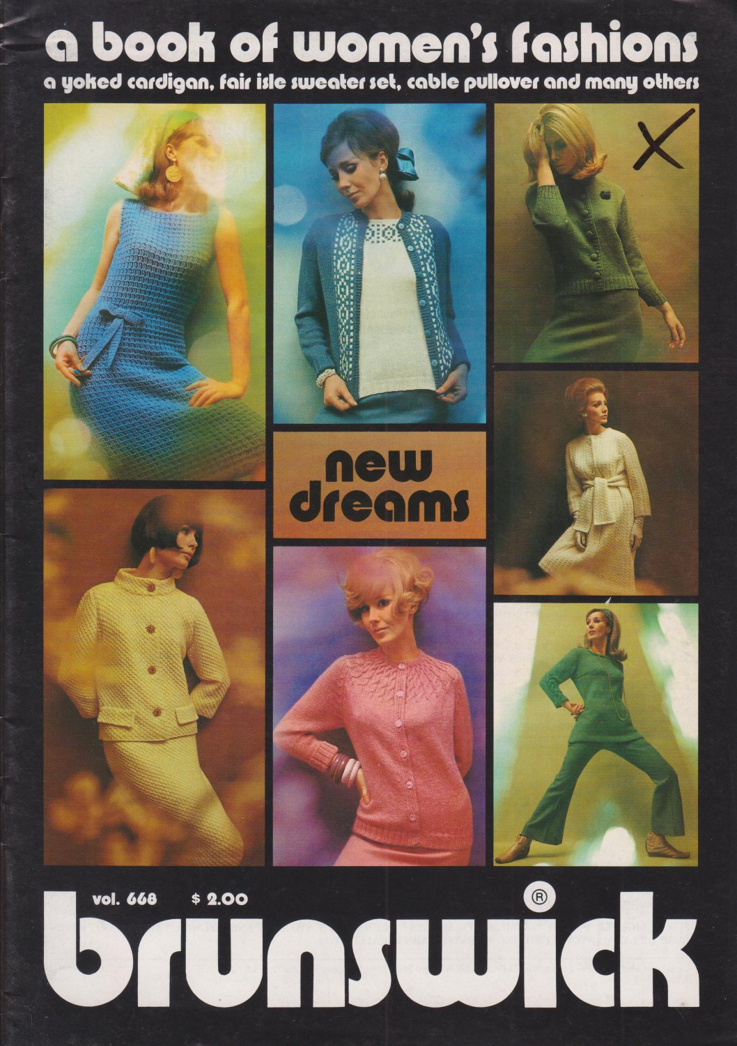 Brunswick Vol 668 A Book Of Women's Fashions 1976 Knitting Pattern Booklet