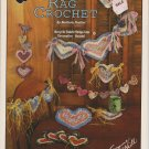 Design Originals Hearts Rag Crochet 1993 Pattern Leaflet #1077