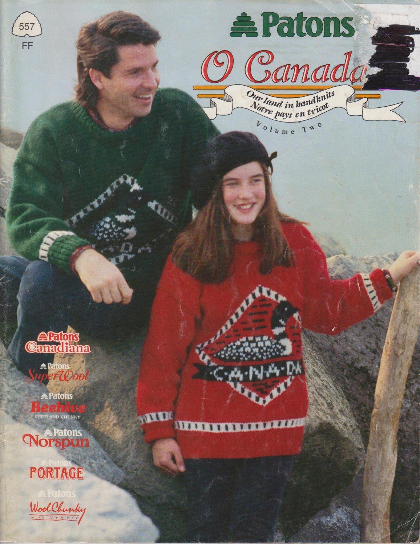 Patons O Canada 1991 Knitting Pattern Book #557FF