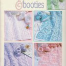 Leisure Arts 1997 Crochet Pattern Booklet #2989 Blankets & Booties