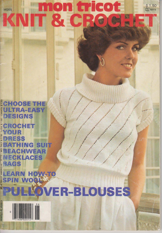 Mon Tricot 1978 Knit & Crochet Magazine #MD55