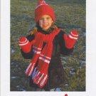 Mary Maxim O Canada Hat Scarf Mitts Knitting Pattern No.99872N