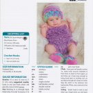 Mary Maxim Crocodile Ruffle Hat & Booties Crochet Pattern No.99579N
