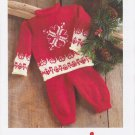 Mary Maxim Knitting Pattern No.99785-6N Winter Love Outfit