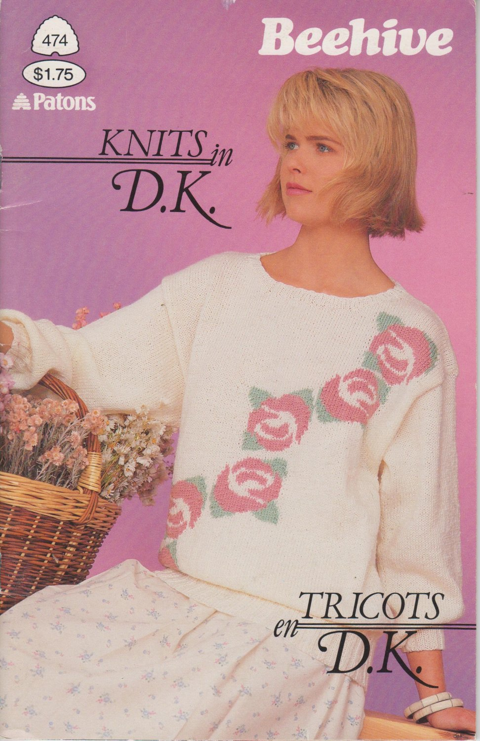 Patons Beehive 1986 Knitting Pattern Book #474 Knits in D.K.