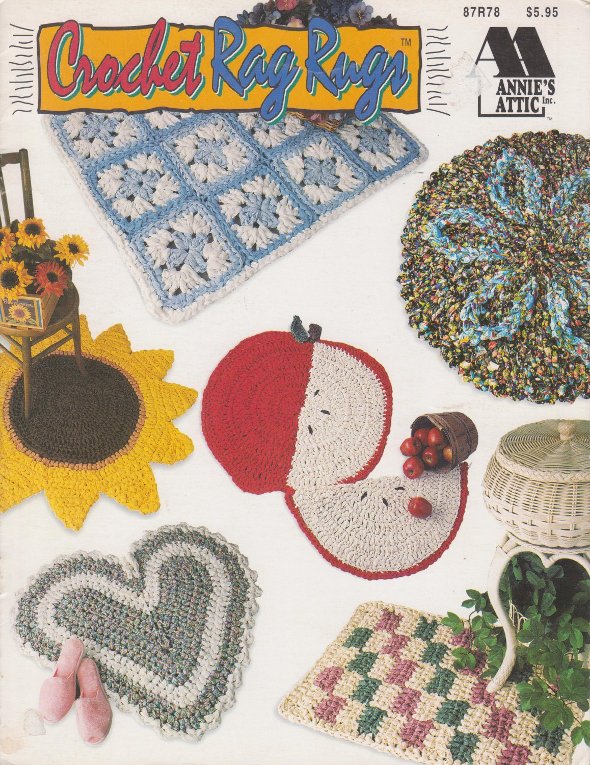 Annie's Attic 1994 Crochet Rag Rugs Patter Leaflet #87R78