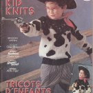 Patons 1987 Knitting Pattern book #517FF Kid Knits 12 sweater designs