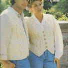 Patons 1994 Knitting Pattern Booklet #712CC Fashion Vests