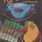 Clark's Vintage 1951 Crochet Pattern Booklet #274 New Book Of Pot Holders and Hot Platter Mats