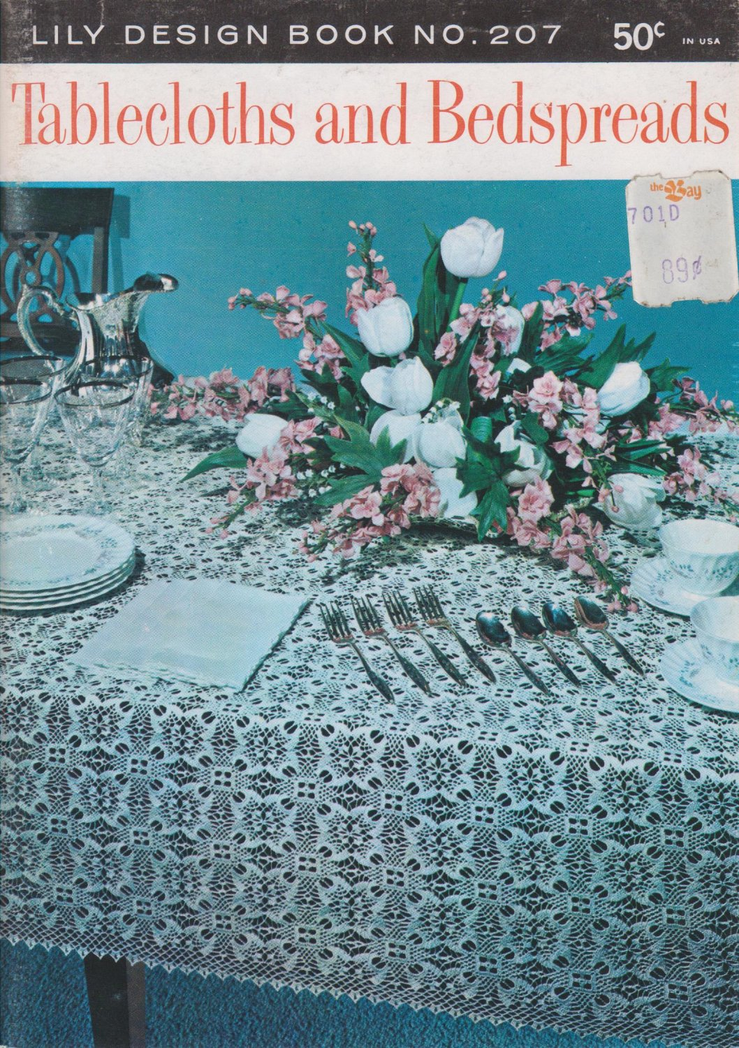 Lily Design Book No.207 Tablecloths and Bedspreads 1978 Crochet Pattern Booklet