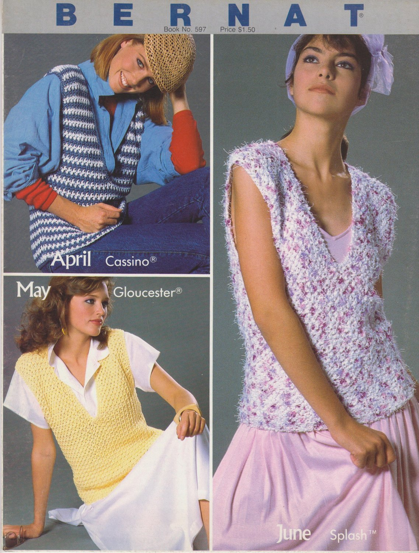 Bernat Handicrafter No.597 Bernat's Year Of Fashion 1986 Crochet Pattern