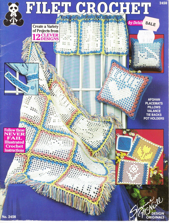Design Originals Filet Crochet 1994 Pattern Leaflet #2458