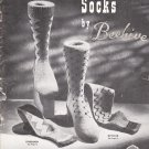 Patons & Baldwins Hand Knit Socks by Beehive Vintage Knitting Pattern Book #37