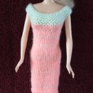 Short Doll Dress 11.5 Inch Fashion Dolls Coral Pink and Mint Green Dress