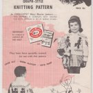 Mary Maxim Graph-Style Knitting Pattern for sizes 4 and 6 No.459 Soldier Boy