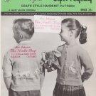 Mary Maxim Children's Graph Style Knitting Pattern No.615 Goose & Golden Egg