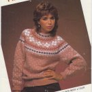 Phentex Men's Woman's Pullover Sweaters Knitting Pattern #802