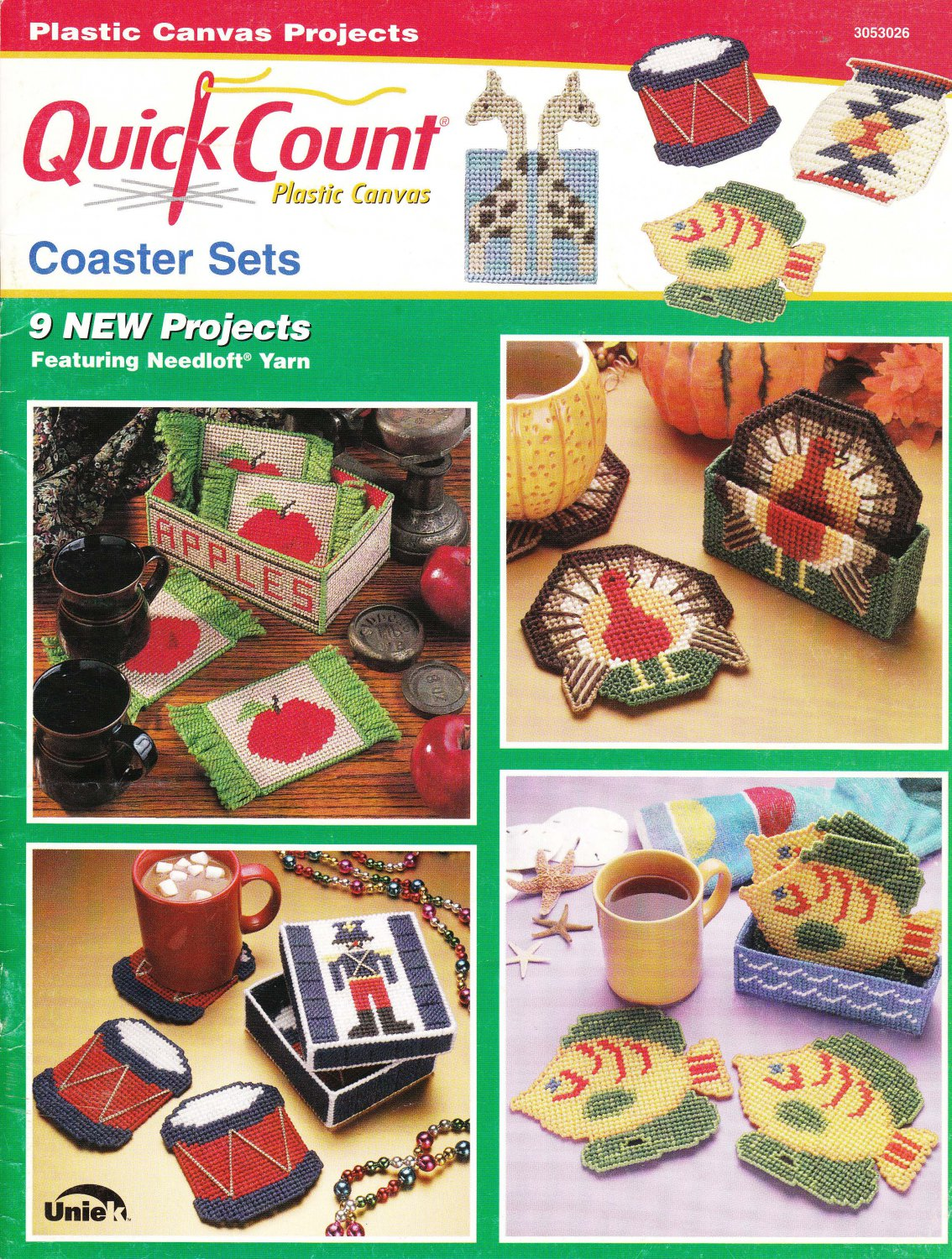 SOLD! Quick Count Plastic Canvas Projects Coaster Sets Pattern Booklet #3053026