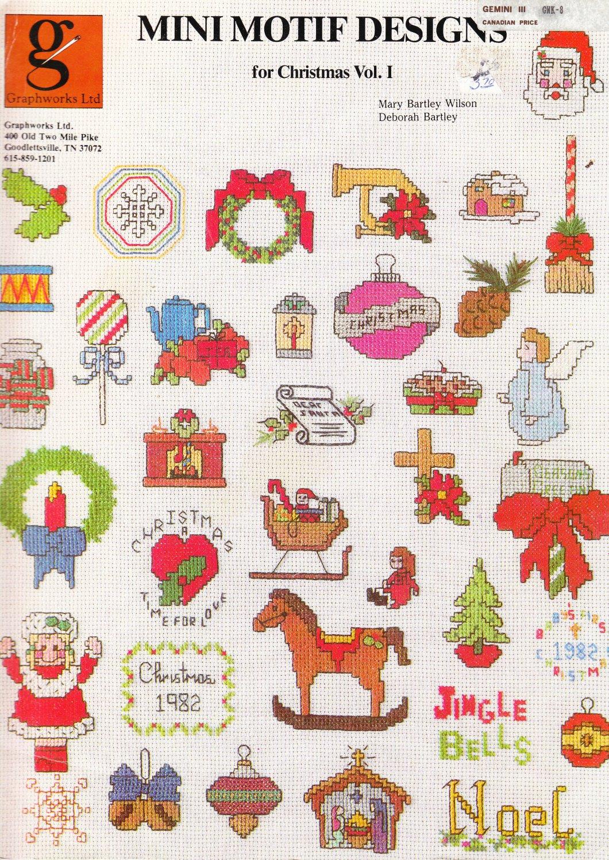 Graphworks 1982 Cross Stitch Pattern Mini Motif Designs for Christmas Vol.1