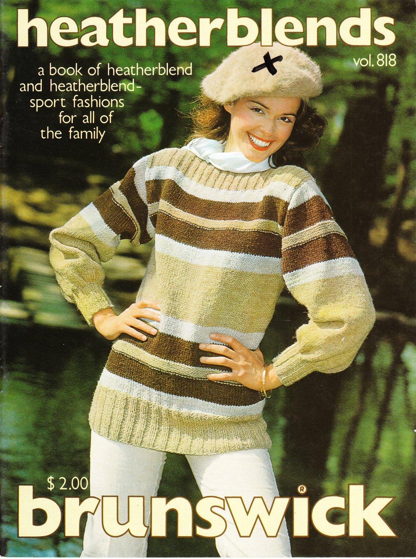 Brunswick Heatherblends 1981 Knitting and Crochet Pattern Booklet vol. 818