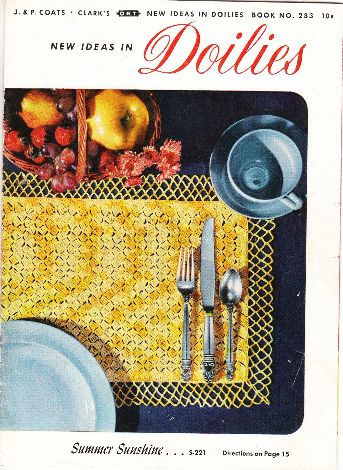 Coats & Clark New Ideas In Doilies Vintage 1952 Pattern Book No.283