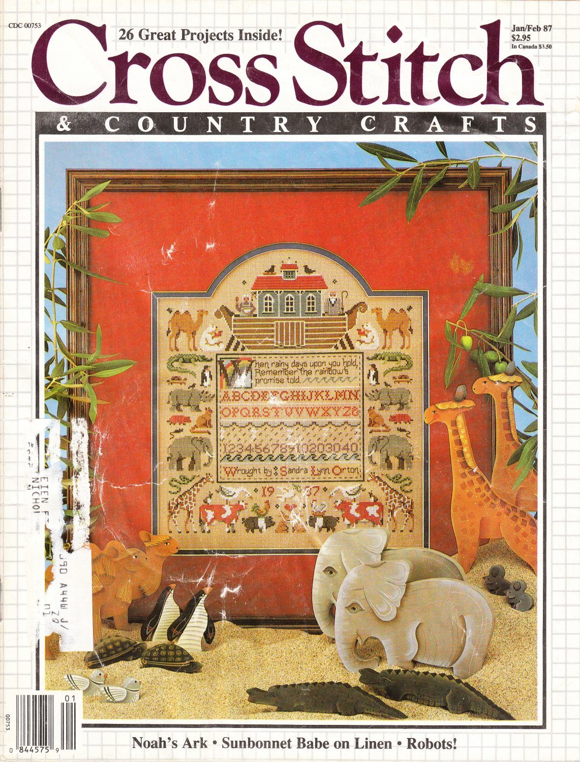 Cross Stitch & Country Crafts Jan/Feb 1987 Magazine Issue Vol. II No. 3