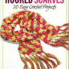 Hooked Scarves 20 Easy Crochet Projects Margaret Hubert 2007 USED Crochet Book