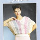 Heather of Vancouver 1984 Designer Striped Romantica Sweater Knitting Pattern #715-0002