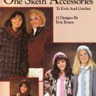 Leisure Arts One Skein Accessories 1986 Knit and Crochet Pattern Leaflet #442