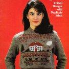 Leisure Arts Sweater Sampler 1983 Knitting Pattern Leaflet #249