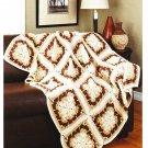 Mary Maxim Coffee Break Afghan Crochet Pattern No.99024N