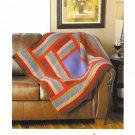 Mary Maxim Log Cabin Throw Knitting Pattern No.99422N