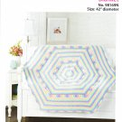 Mary Maxim Rainbow Sherbet Blanket Crochet Pattern No.98169N