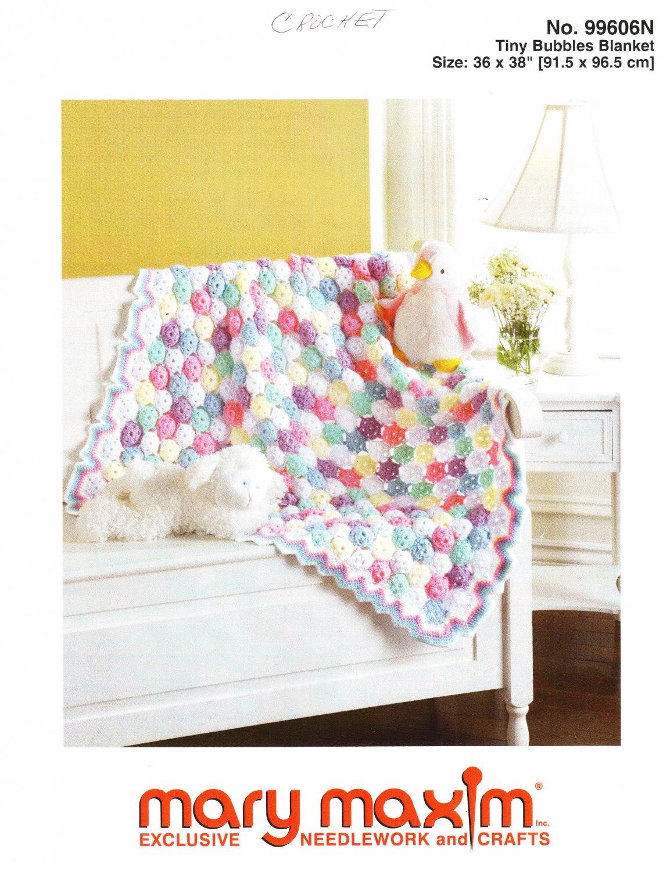 Mary Maxim Tiny Bubbles Blanket Crochet Pattern No.99606N