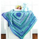 Mary Maxim Textured Granny Blanket Crochet Pattern No.99578N