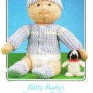 Annie's 1986 Bitty Baby's Sweater & Cap Crochet Pattern #87F69
