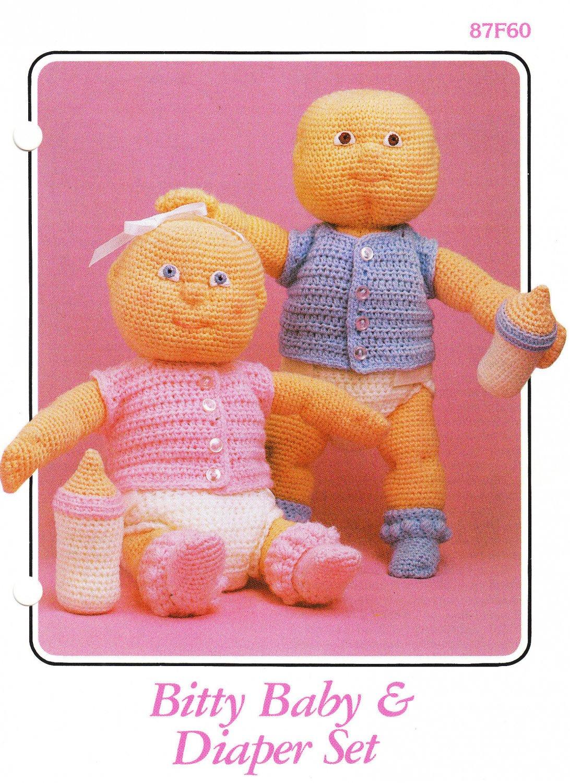 Annie's Bitty Baby & Diaper Set 1986 Crochet Pattern #87F60