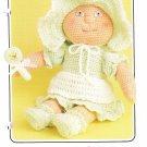 Annie's Bitty Baby's Apron Dress 1986 Crochet Pattern #87F64