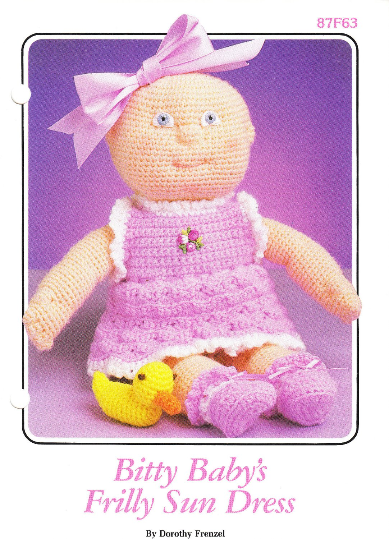 Annie's 1986 Crochet Pattern #87F63 Bitty Baby's Frilly Sun Dress
