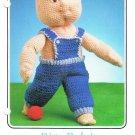 Annie's 1986 Crochet Pattern #87F65 Bitty Baby's Overalls