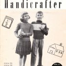 Corticelli Handicrafter Book No. KP68 Knitting Patterns For Boys and Girls Size 4-12