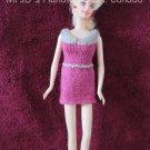 11.5 Inch Fashion Dolls Knitted Short Dress