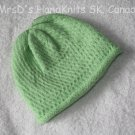 Hand Knit Lime Green Baby/Toddler Beanie Hat #3