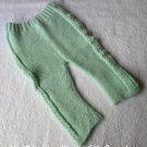 Handknit Mint Green Baby Pants Bottoms