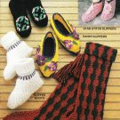 Annie's Attic Simple Slippers 1990 Crochet Pattern Booklet 87S91