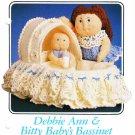 Annie's Debbie Ann & Bitty Baby's Bassinet 1986 Crochet Pattern 87F70