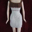 11.5 Inch Fashion Dolls Short Dress Beige with Brown