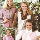 Leisure Arts Vests in Fashion Yarns to knit & crochet 1981 pattern leaflet 196