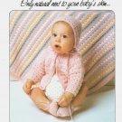 Lily Baby Yarn 1982 Knitting Leaflet 202 pattern to knit Infant layette set