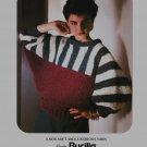 Bucilla Tri-Color Dolman Sleeve Pullover Knitting Pattern #4025